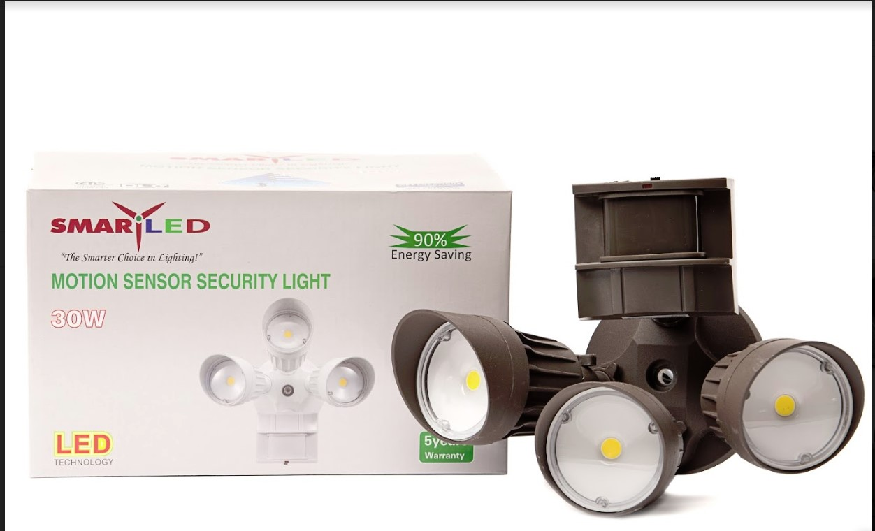 Security Light 30 Watt 3-head