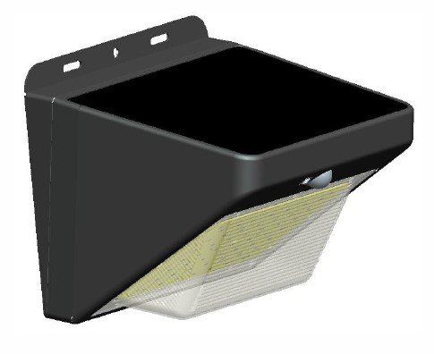 LED Solar Wallpack 5W