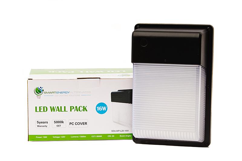 Led Wall Pack SEA/HLE WP-L28-16W 5000K
