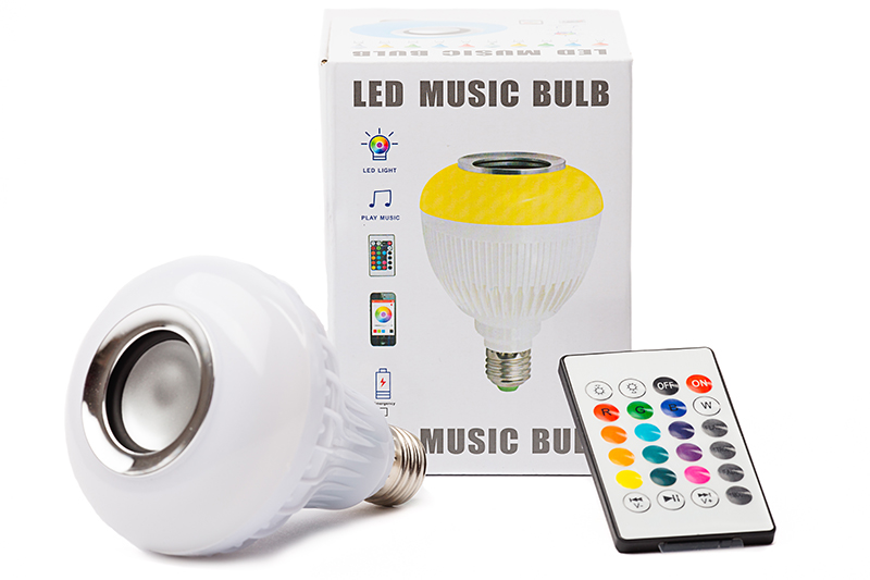 LED Bluetooth Musical Bulb w/Remote