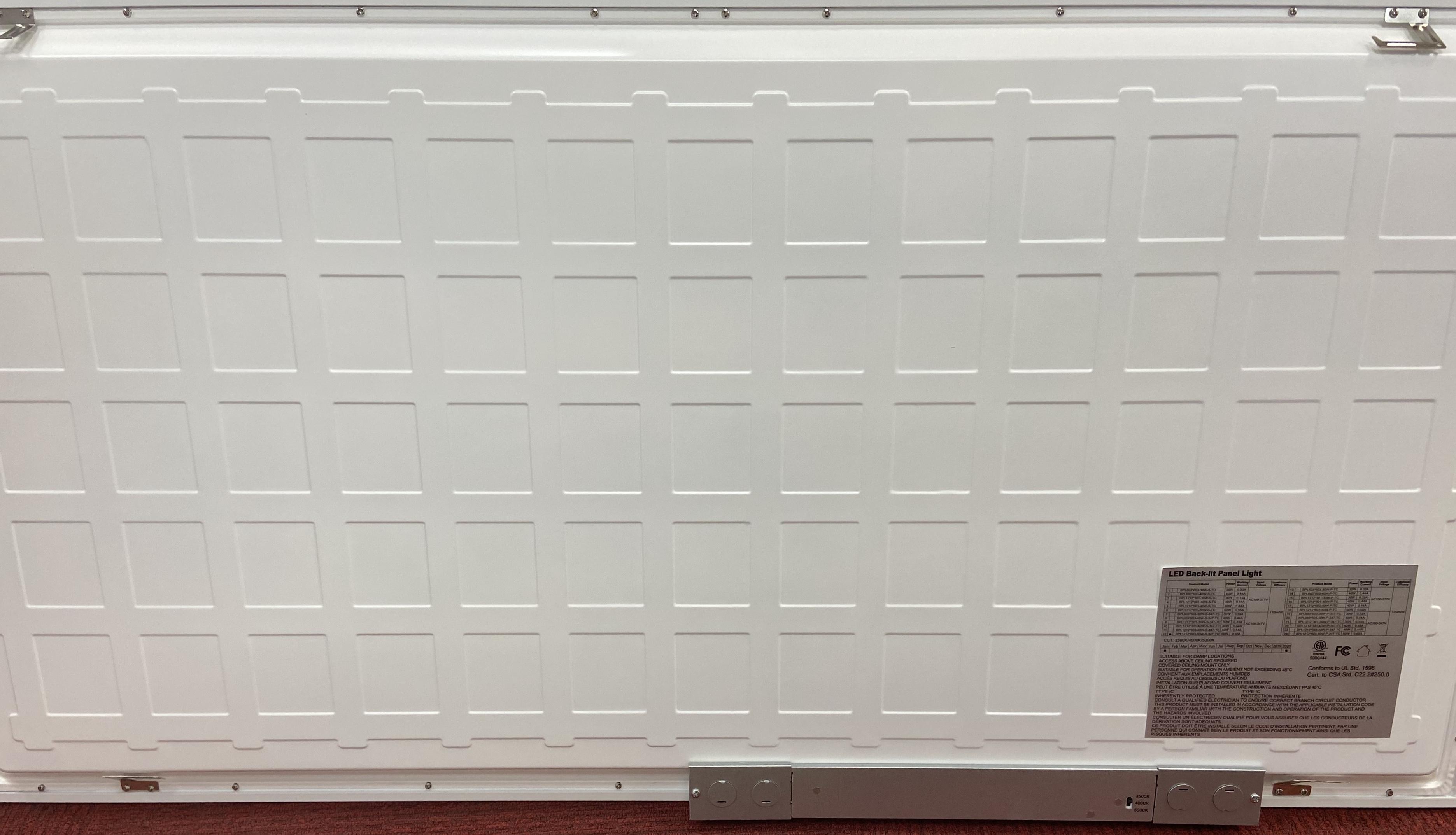 Backlit 3-4-5K 40W Panel - 1X4