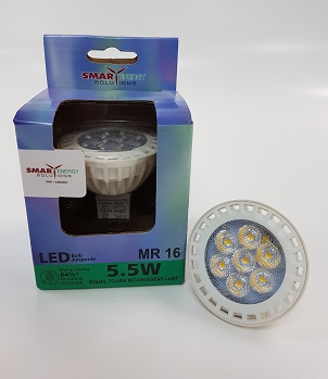 MR16 5.5 WATT 5000K SES-MR16-5.5W
